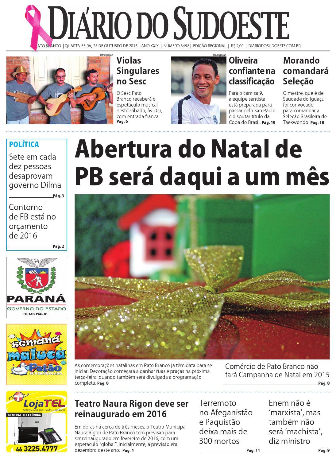 Diário do sudoeste 28 de outubro de 2015 ed 6498 by Diário do Sudoeste -  issuu 90b34e2427735