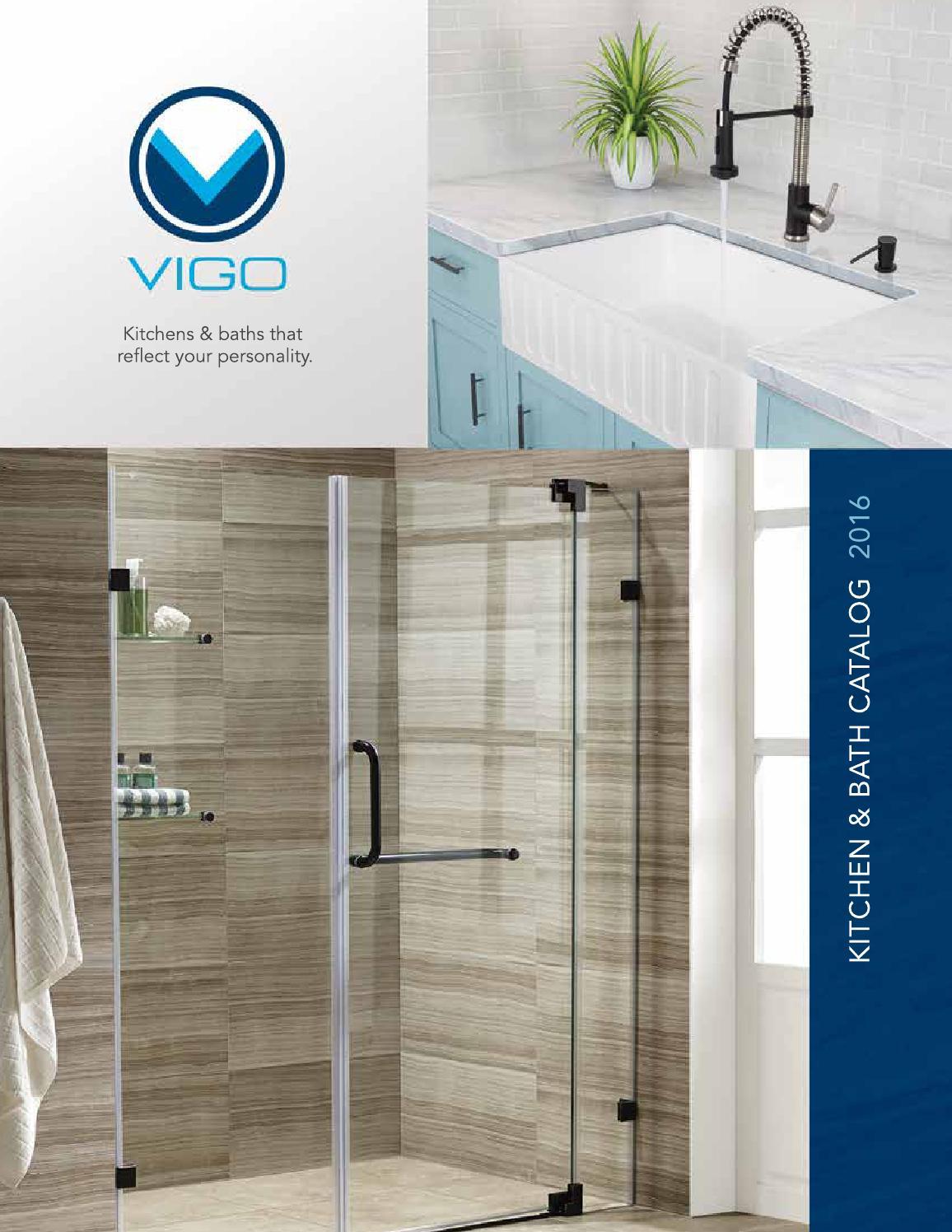 Vigo Laurelton Pull Down Spray Kitchen Faucet In Matte Black vigo 2016 catalog final by maier bianchi - issuu