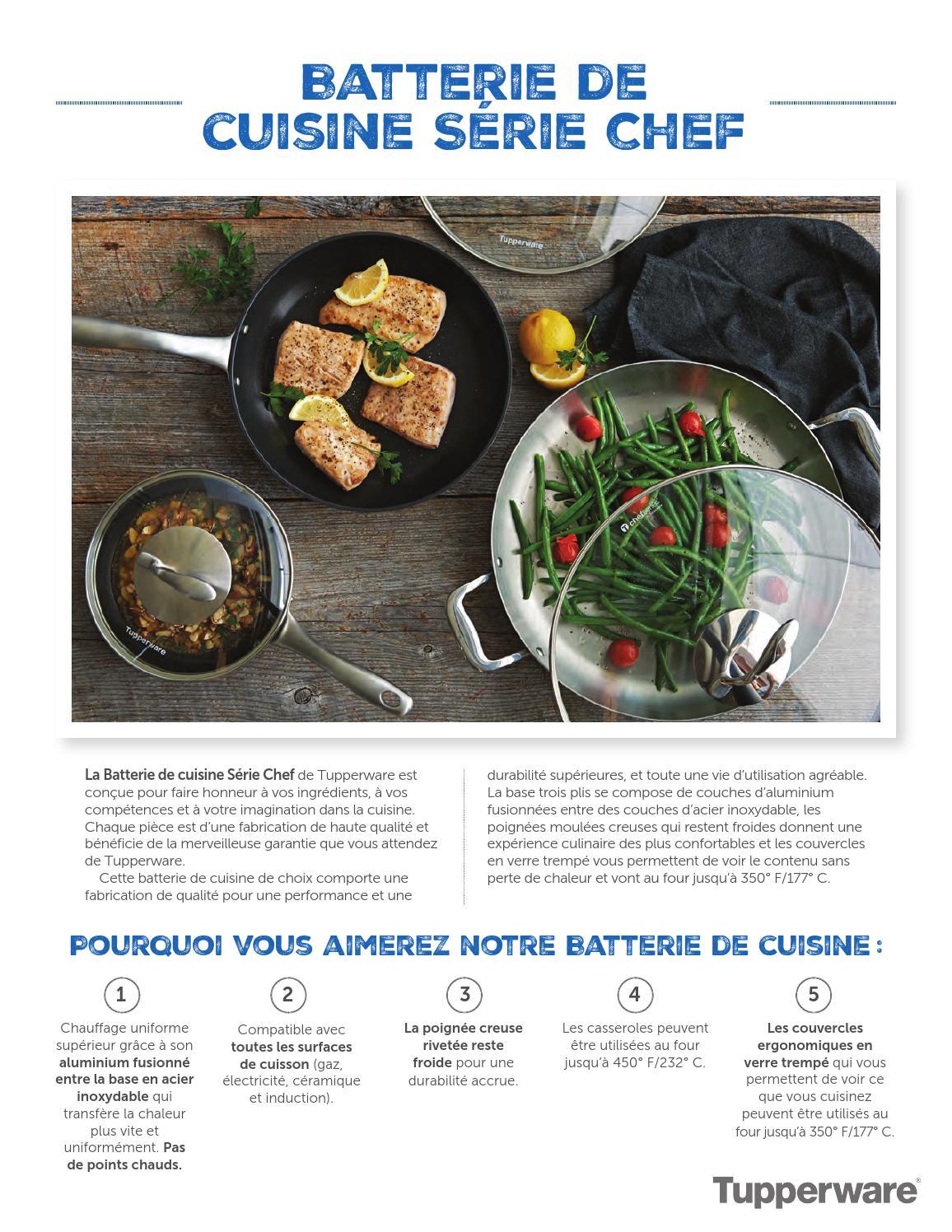 Batterie De Cuisine Gaz description de la batterie de cuisine tupperwaresimon