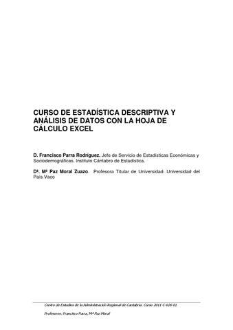 Estadistica descriptiva con excel avanzado by ECLIMOSIS - issuu