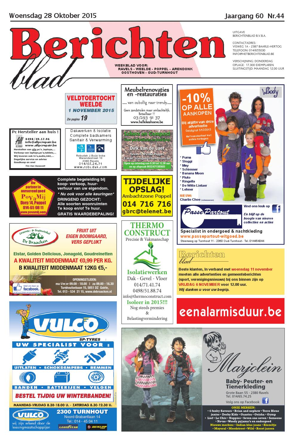 bc7e5580cea Berichtenblad 28-10-2015 by Uitgeverij Em de Jong - issuu