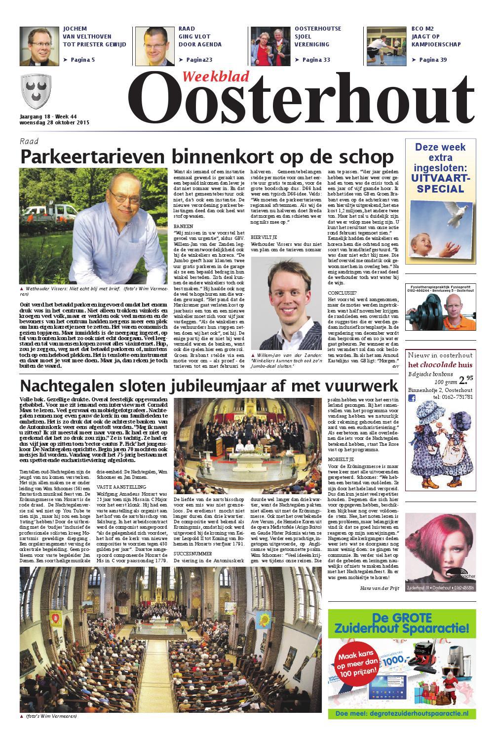 Weekblad Oosterhout 28 10 2015 By Uitgeverij Em De Jong Issuu