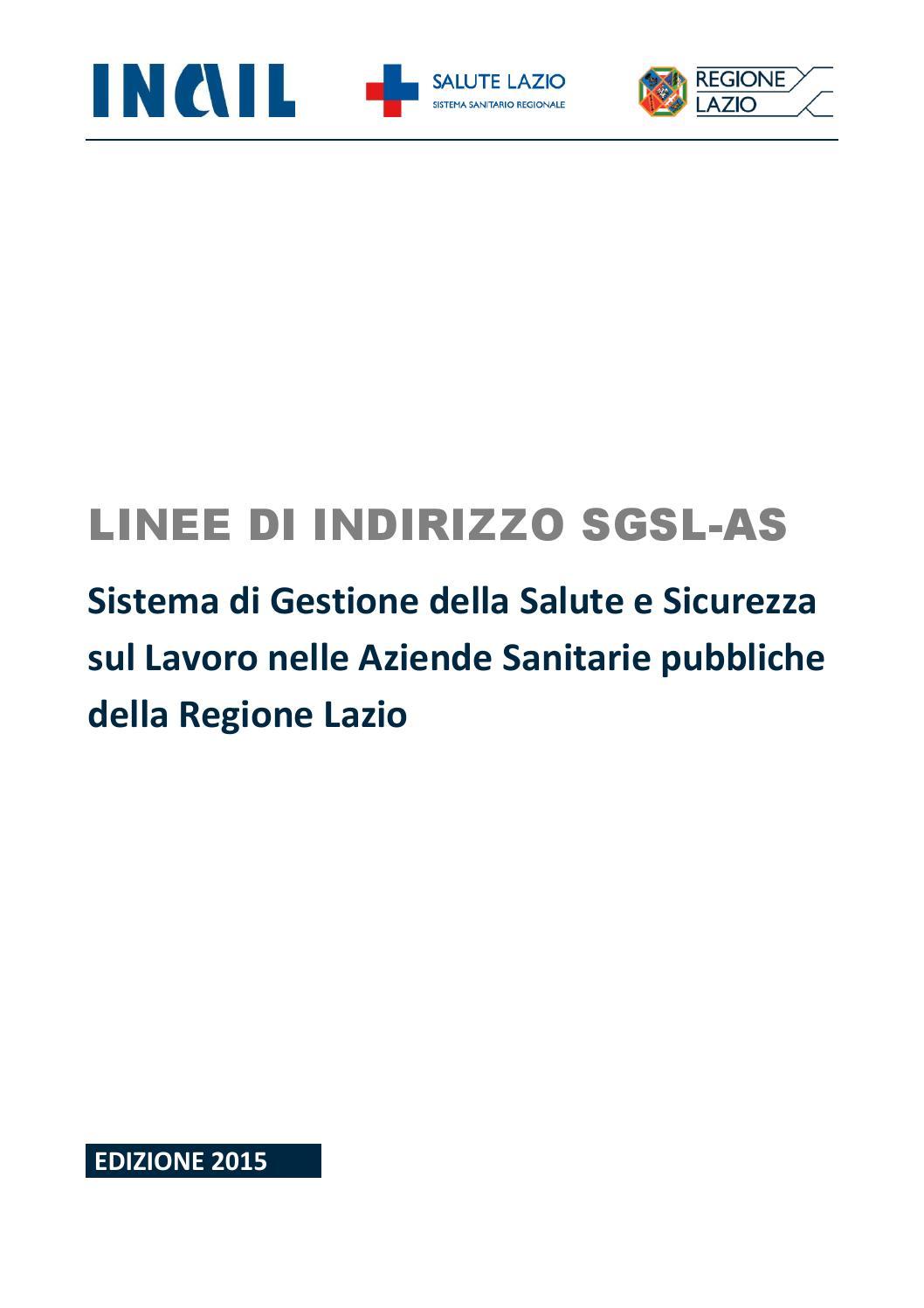 Linee di indirizzo sgsl as by Laboratorio Polizia ...