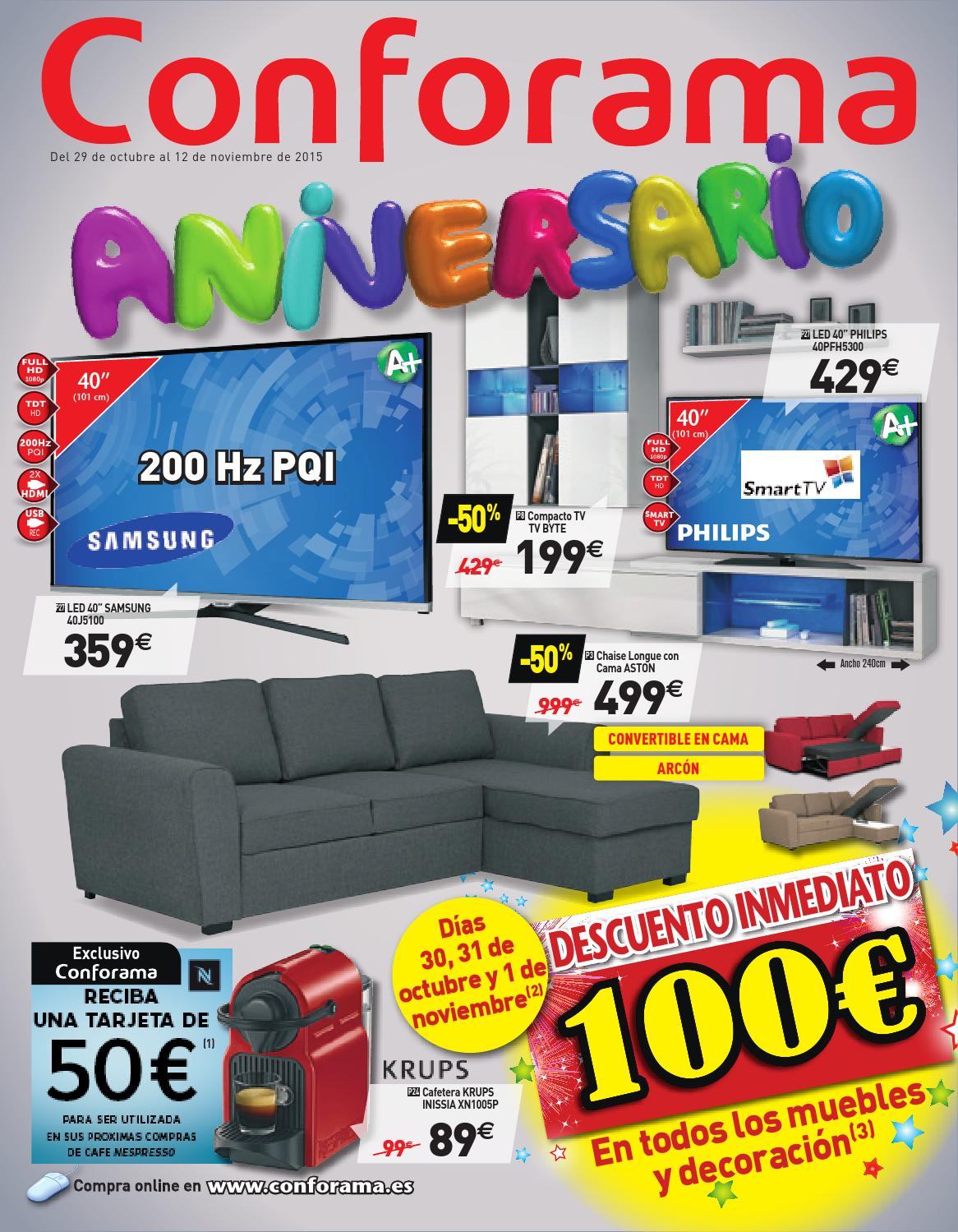 conforama catalogo 29octubre 12noviembre2015 by. Black Bedroom Furniture Sets. Home Design Ideas