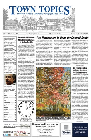 Town Topics Newspaper October 28 2015 By Witherspoon Media Group