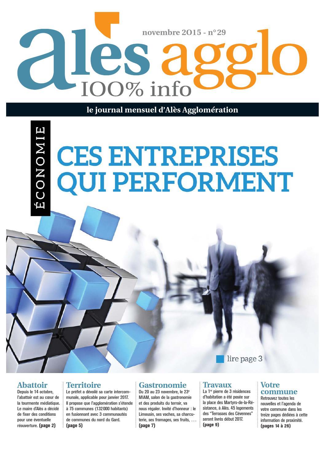Alès Agglo n°29 - Novembre 2015 by Alès Agglomération - issuu 3ee49ee1aedc
