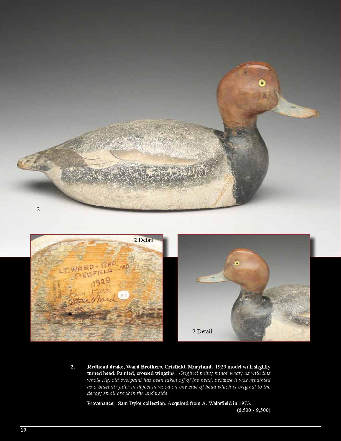 North American Decoys at Auction - November 11 & 12, 2015 by