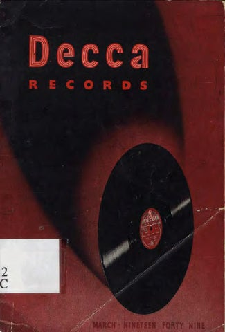 Decca records general catalogue 1949 (London GB) by 78rpm Club - issuu