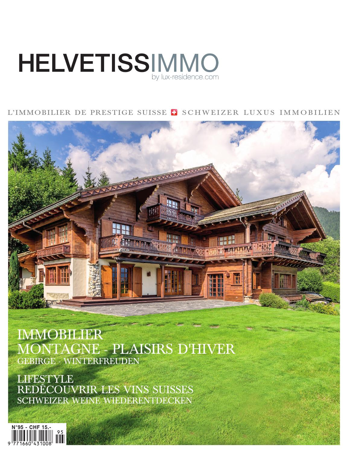 Helvetissimmo H95 (Octobre Décembre 2015) By HELVETISSIMMO (Luxury Real  Estate Magazine)   Issuu