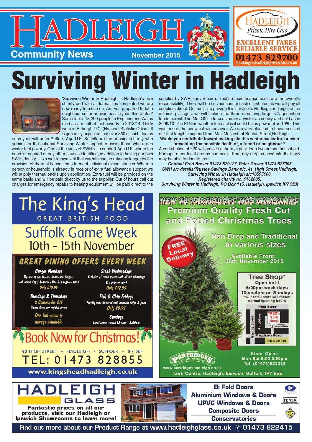 Hadleigh Community News, November 2015 by Keith Avis Printers - issuu