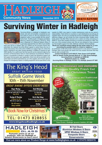 Hadleigh Community News, November 2015
