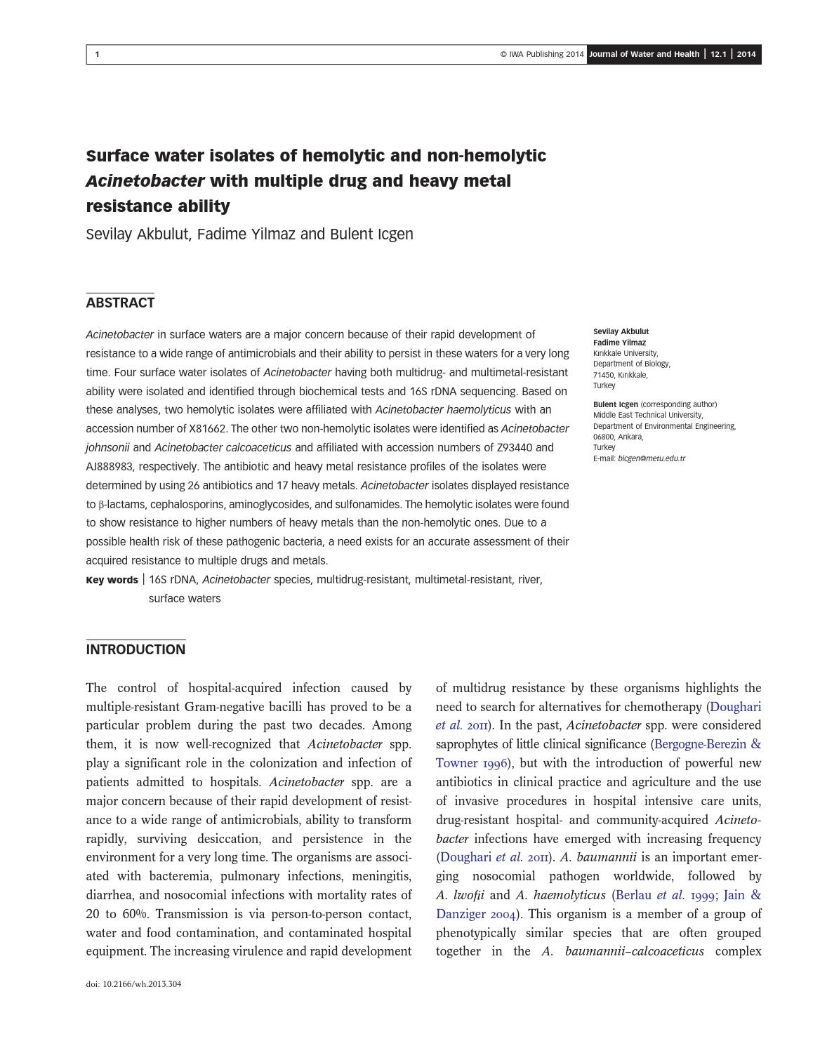 Journal Of Water And Health Sample Issue By Iwa Publishing Issuu Parcel Kristal Pja 1637