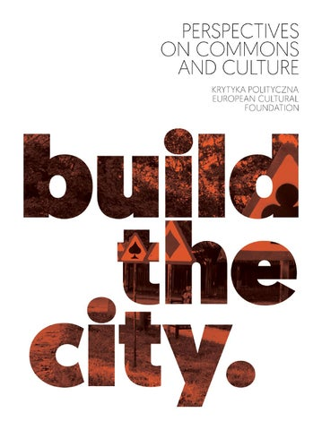 Build The City By Krytyka Polityczna Issuu