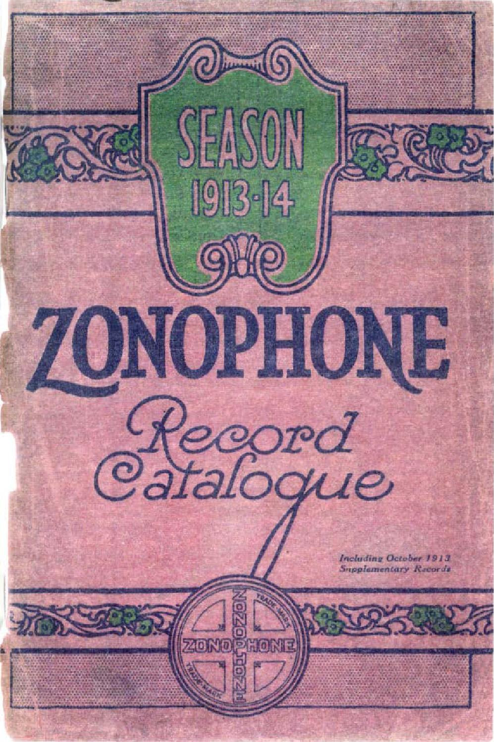 Zonophone Catalogue 1913-1914 by 78rpm Club - issuu