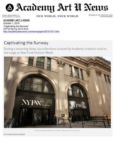 Academy Of Art University School Of Fashion Issuu