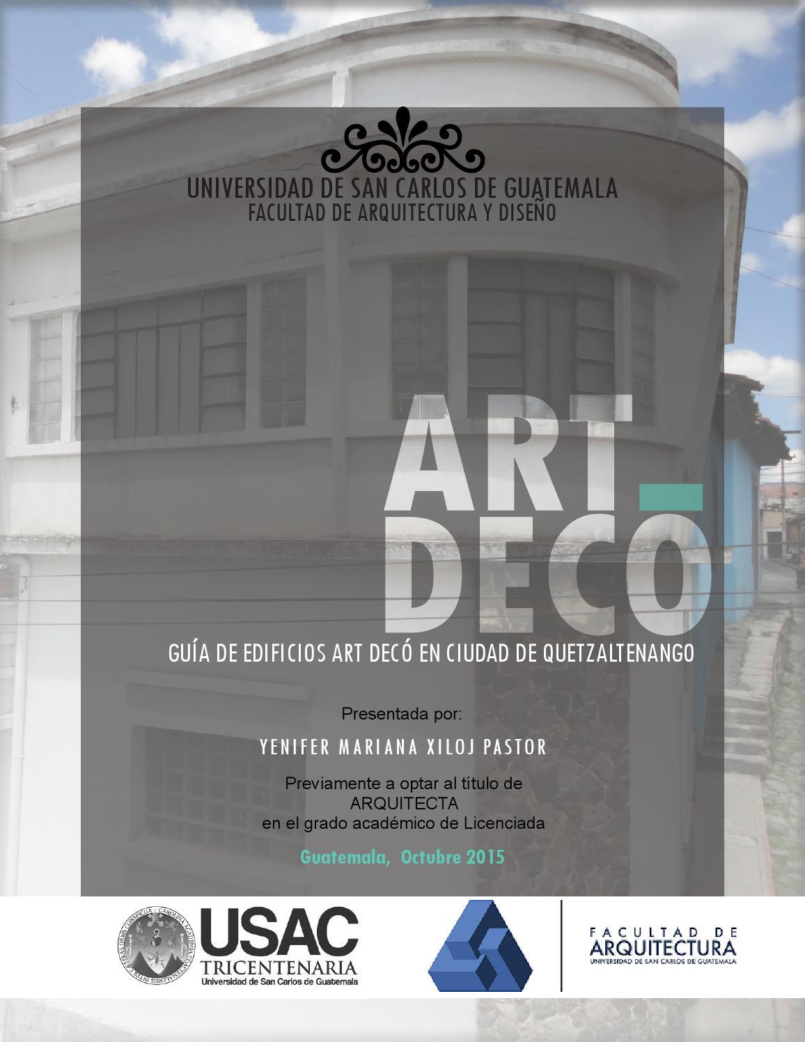 Gu a de art dec en ciudad de quetzaltenango by yni xiloj - San carlos cortinas ...