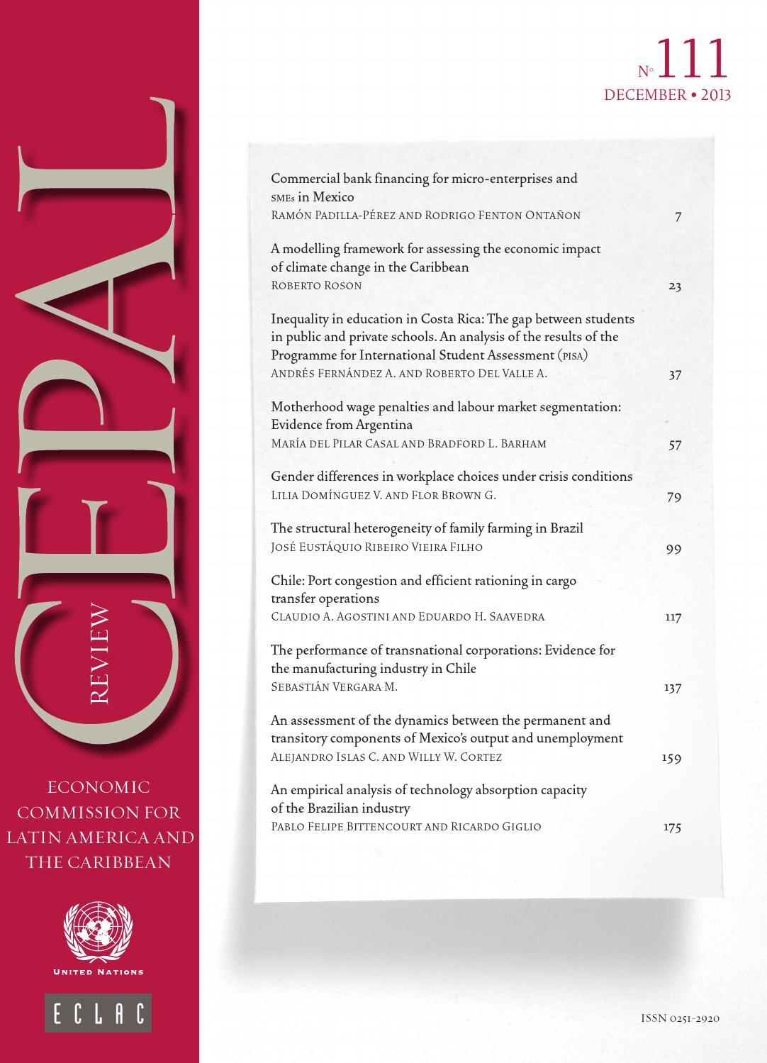 16ff549bcc0 CEPAL Review Nº111 by Publicaciones de la CEPAL, Naciones Unidas - issuu