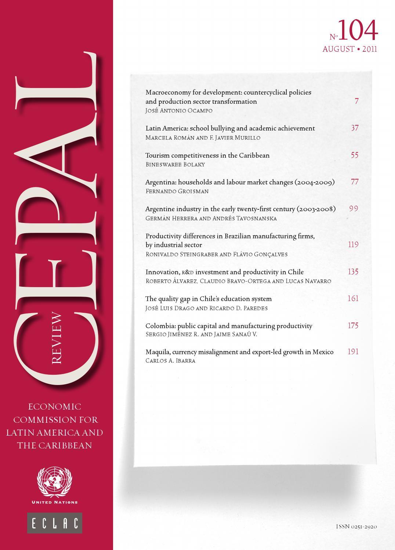 CEPAL Review Nº104 by Publicaciones de la CEPAL, Naciones Unidas - issuu
