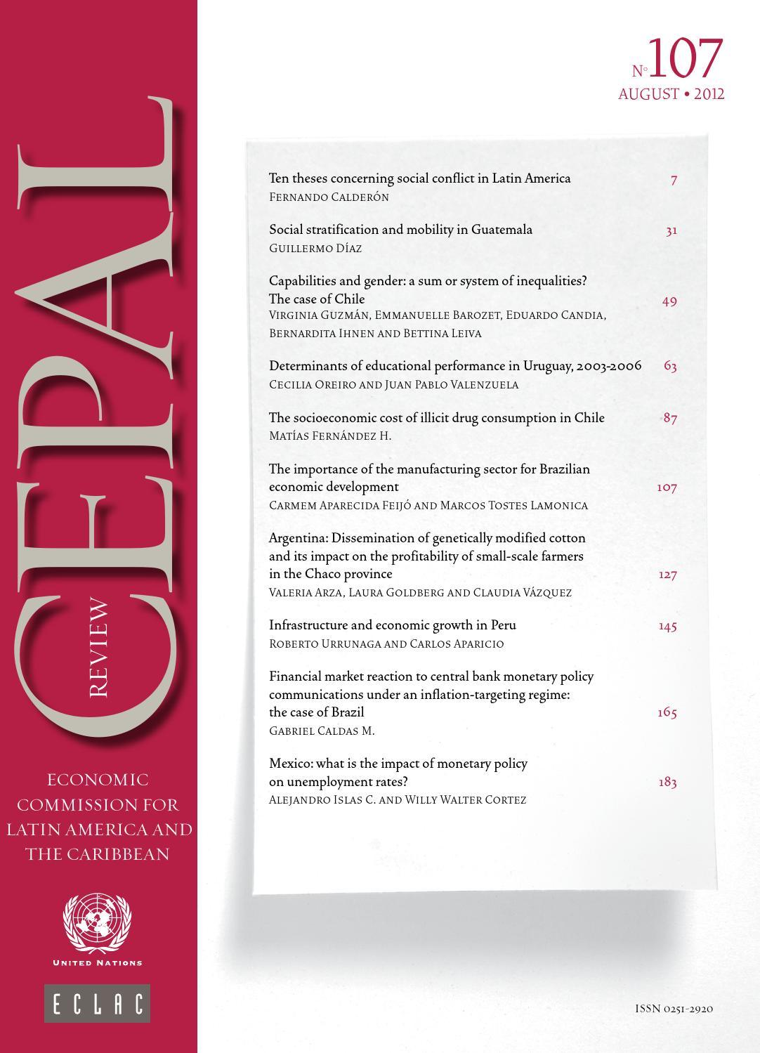 CEPAL Review Nº107 by Publicaciones de la CEPAL, Naciones