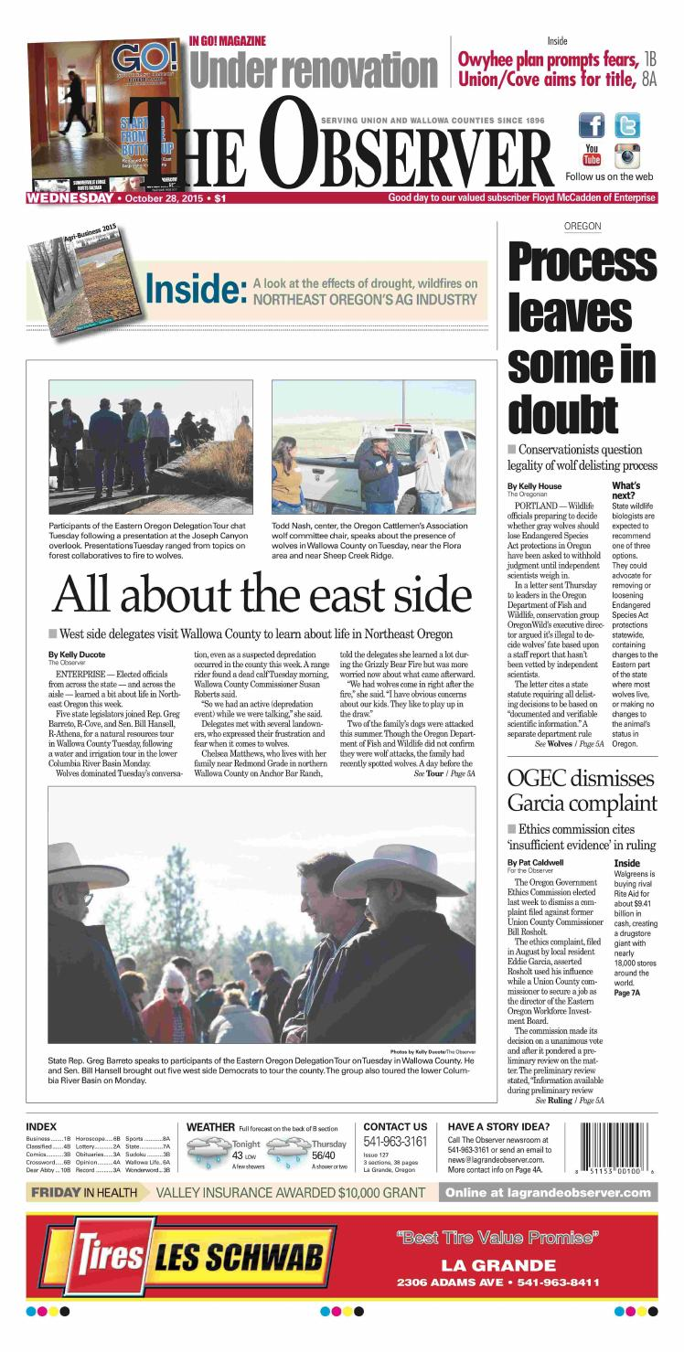 The Observer paper 10-28-15 by NorthEast Oregon News - issuu