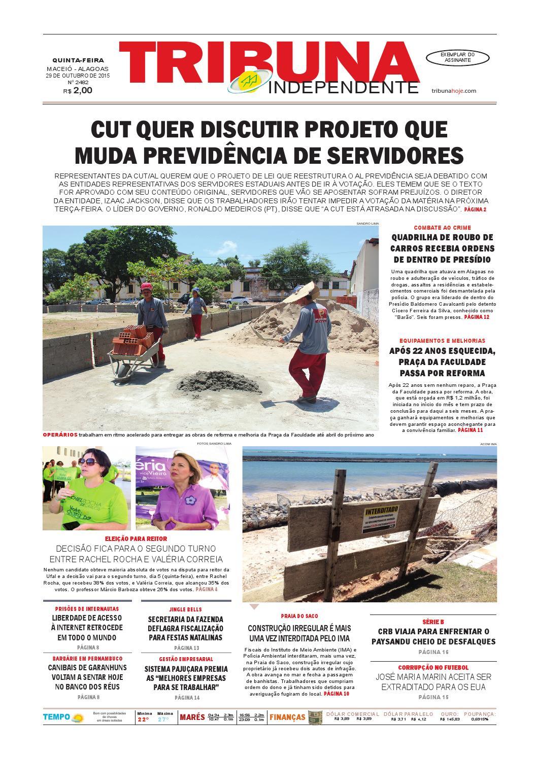 0e964c9f8dd Edição número 2482 - 29 de outubro de 2015 by Tribuna Hoje - issuu