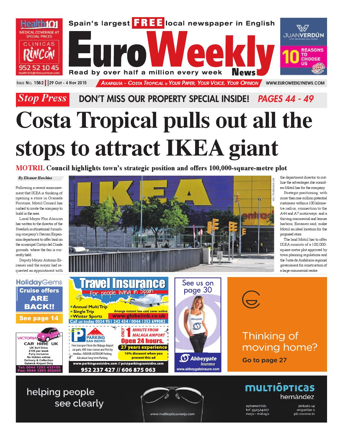 163efe1f536a98 Euro Weekly News - Axarquia 29 October - 4 November 2015 Issue 1582 ...