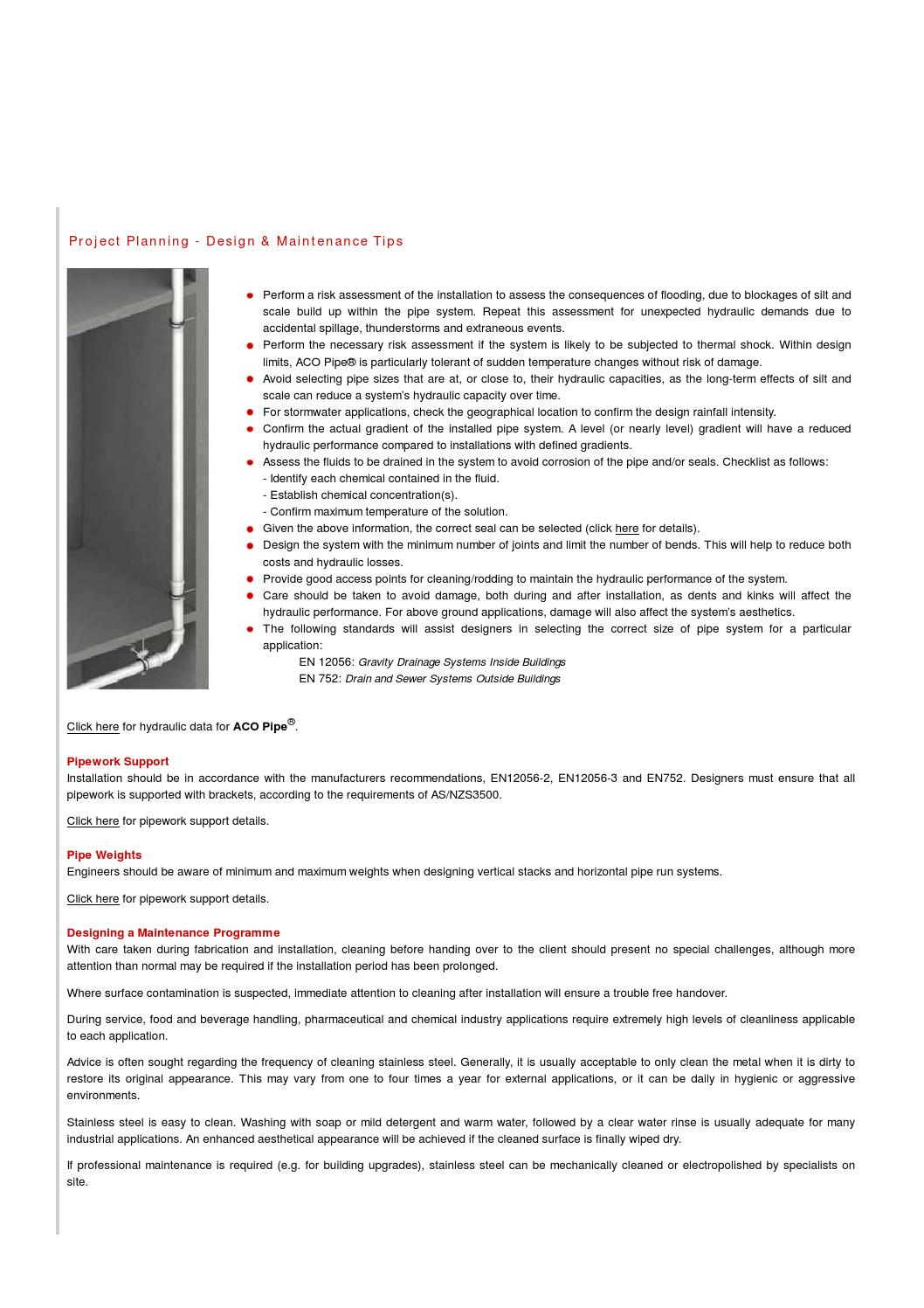 Aco pipe design maintenance by ACO Building Drainage - issuu