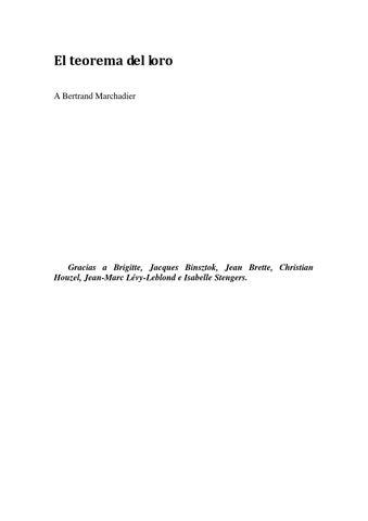 El teorema del loro by ALPRES - issuu d752b3ae4ff