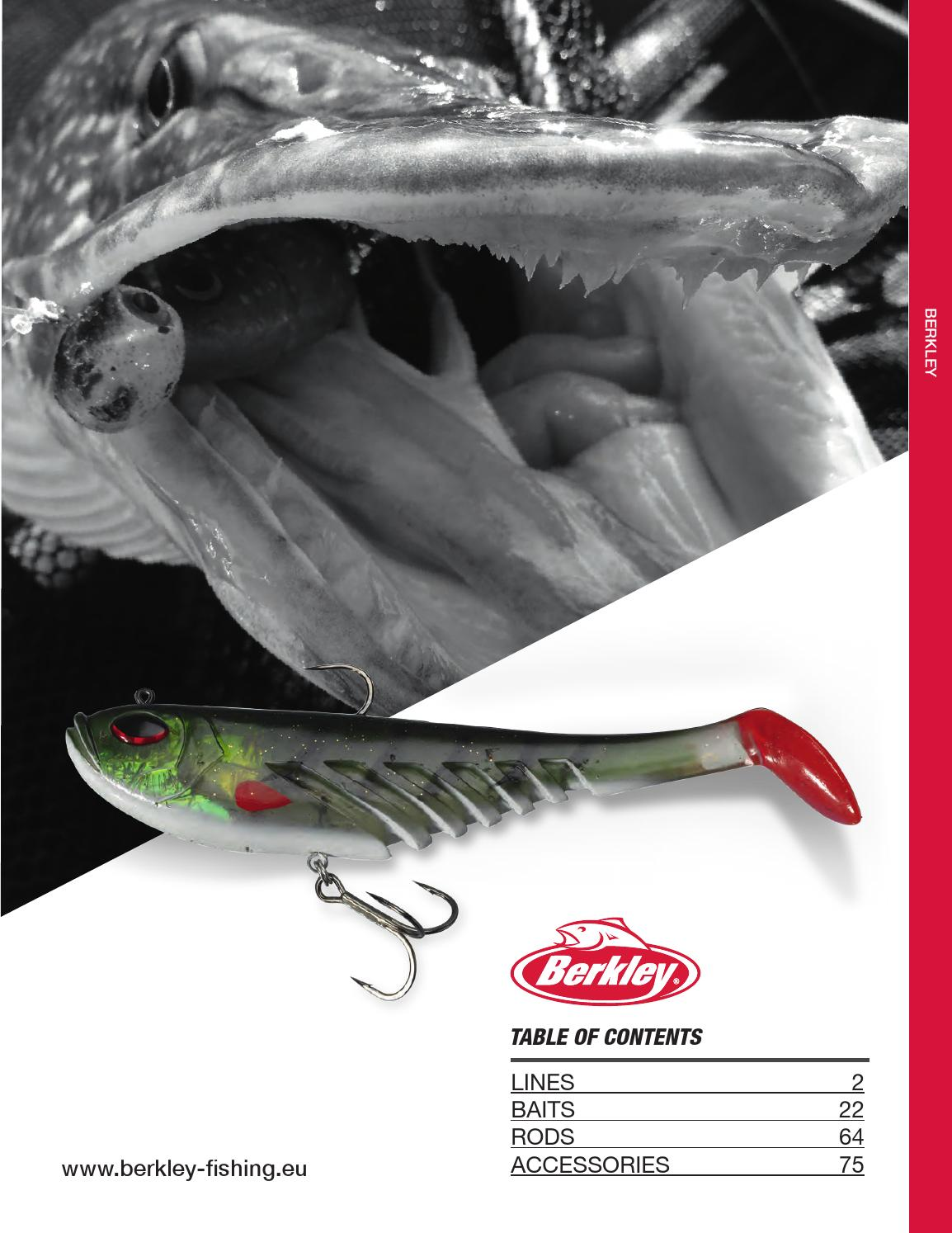 Berkley 2018 Catalog By Maciek Respondek Issuu Lure Minnow 85 Cm 68gr Crank Bait Treble Hook Crankbait 2016