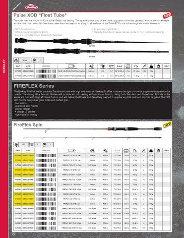 lnrg Lone Gamme Berkley drague 14.5 lente montée 12-15 FT 5//8oz 2 1//2 à bhbdr 14.5