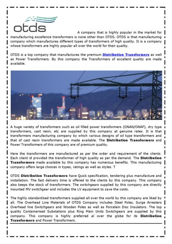 Distribution Transformers by distributiontransformers01 - issuu