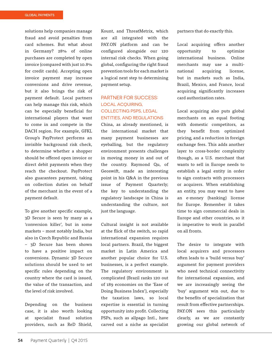 Payment Quarterly | Q4 2015 (Money20/20) by Payment Week - issuu