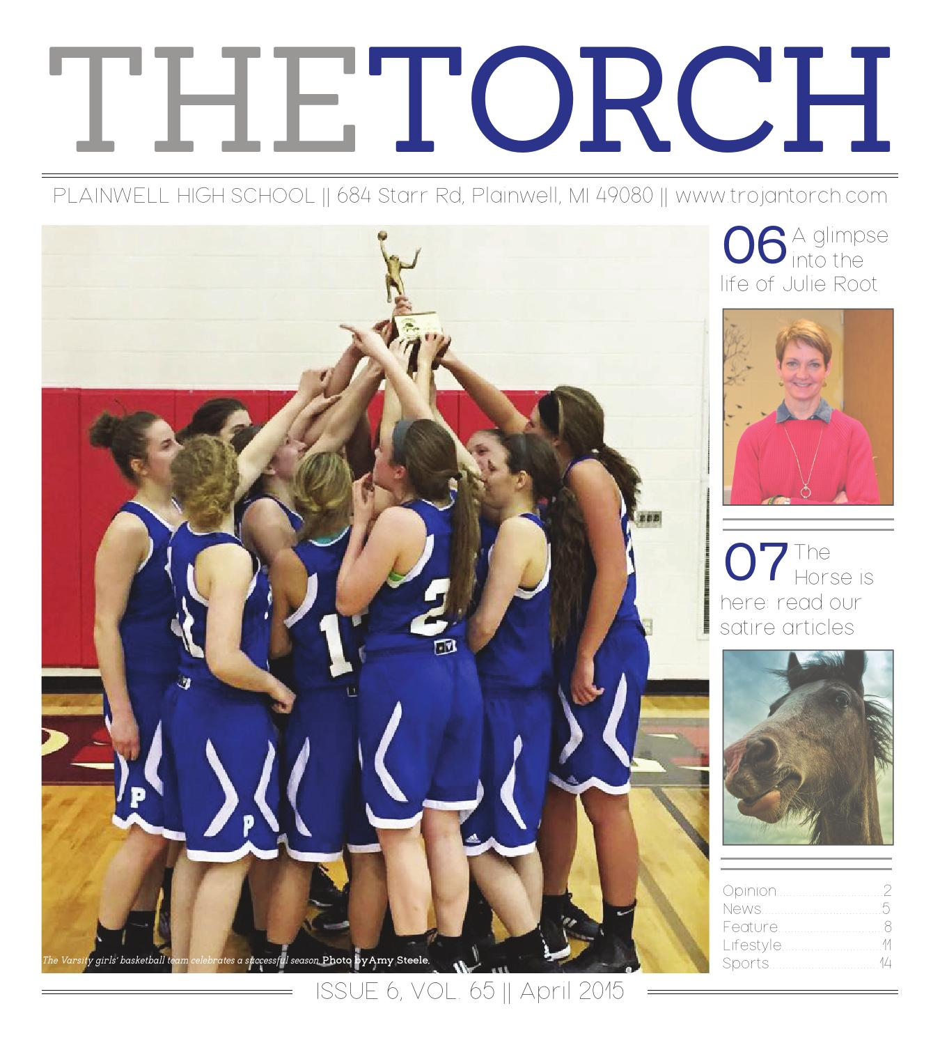 Torch March April 2015 By Plainwell Schools Issuu