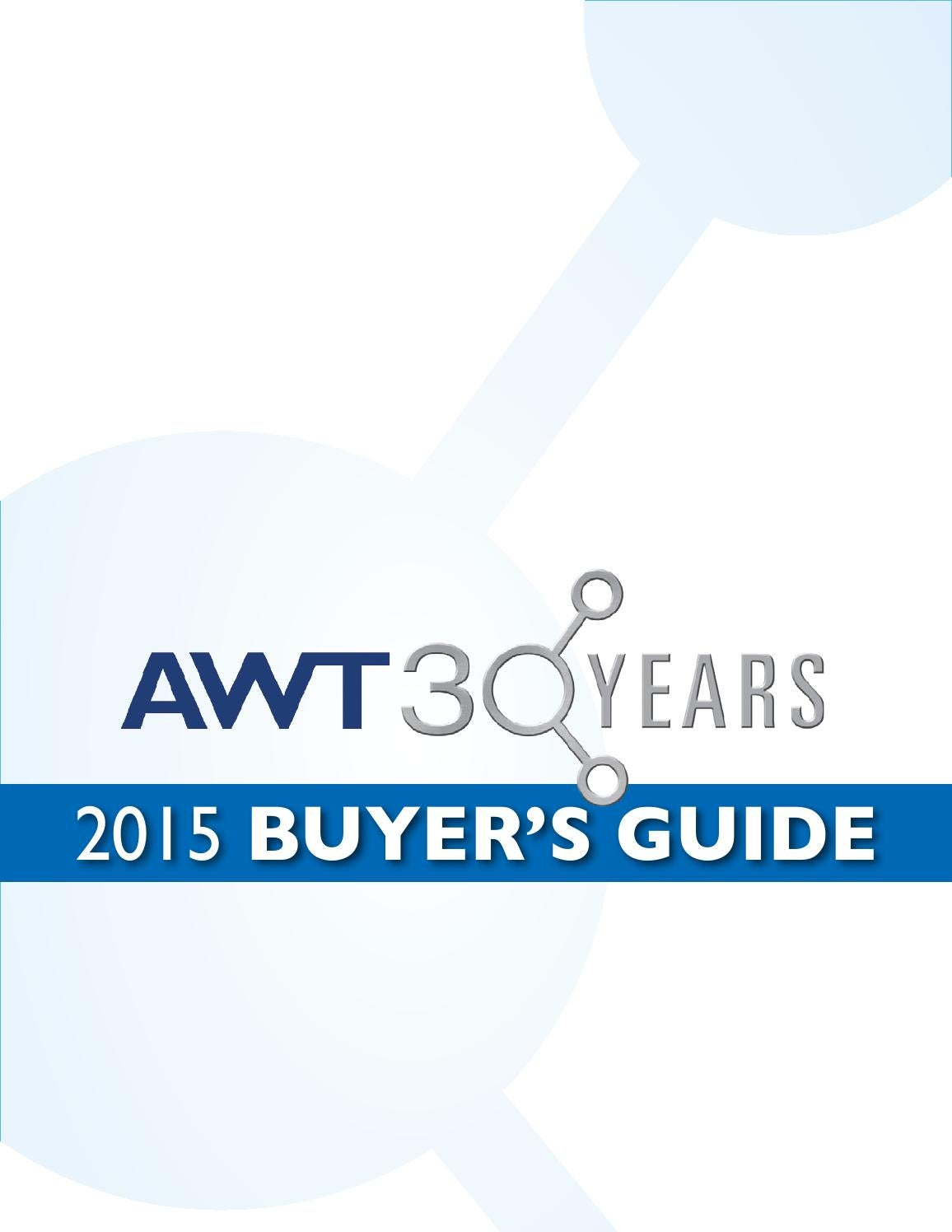 AWT Buyer's Guide 2015 by Association of Water Technologies