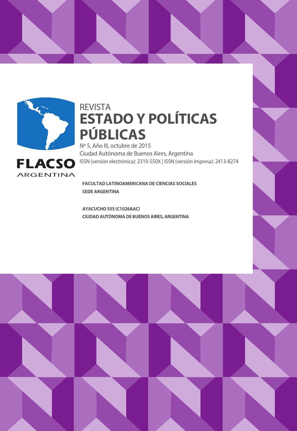 Revista Estado y Políticas Públicas Nº5 by Emiliano - issuu