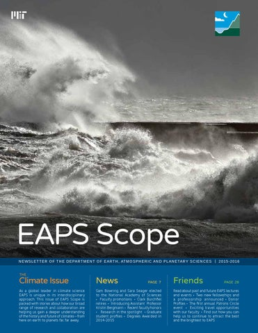2015 2016 Newsletter Of The Department Of Earth Atmospheric And