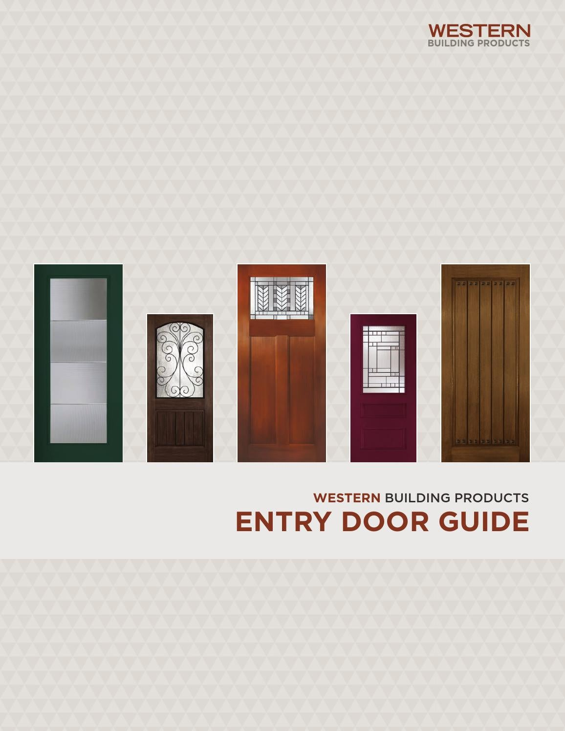western building products exterior door brochure by bassbone issuu