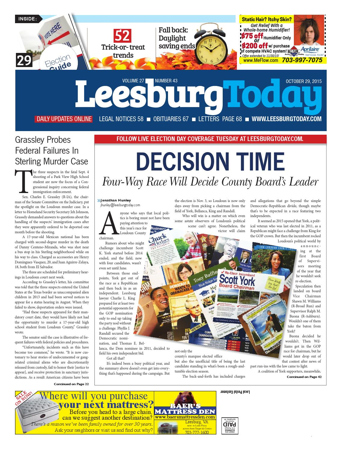 Leesburg Today October 29 2015 By Insidenova Issuu