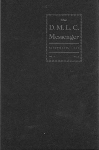 1919-1920 DMLC Messenger Vol  10 by Martin Luther College