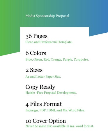 36 pages clean and professional template