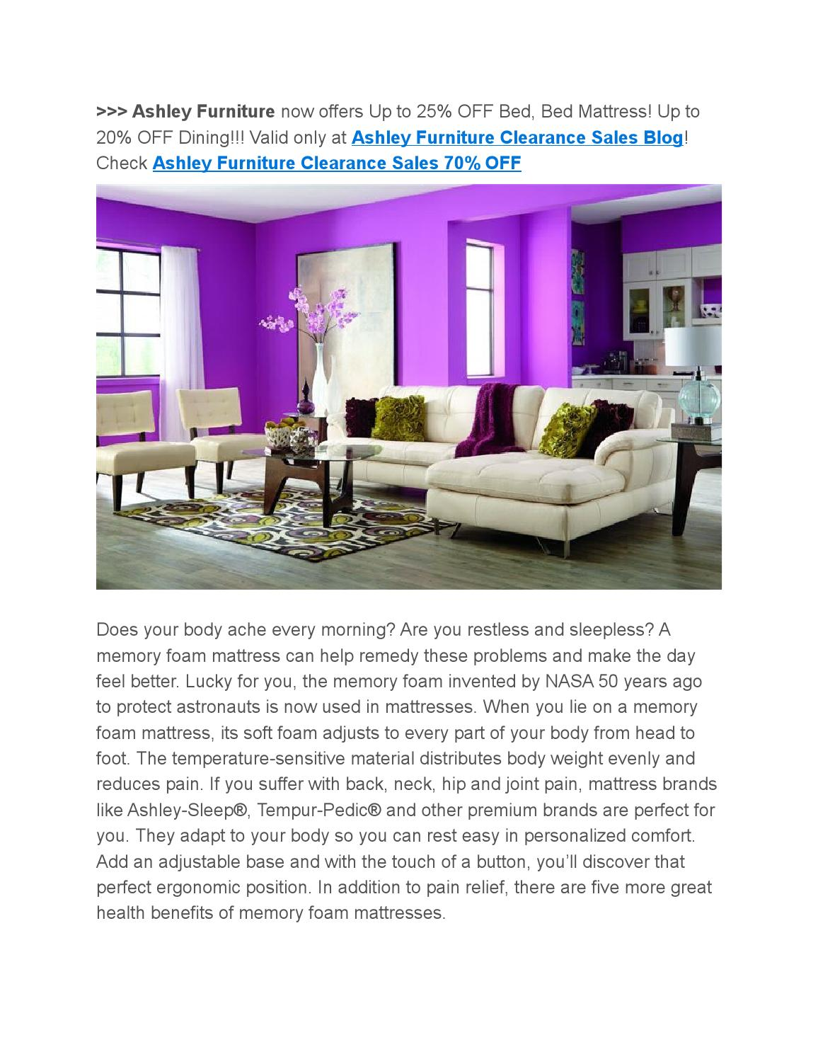 Picture of: Ashley Furniture Clearance Sales 70 Off 6 Reasons Why You Need A Memory Foam Mattress Now By Wright Sophia Issuu