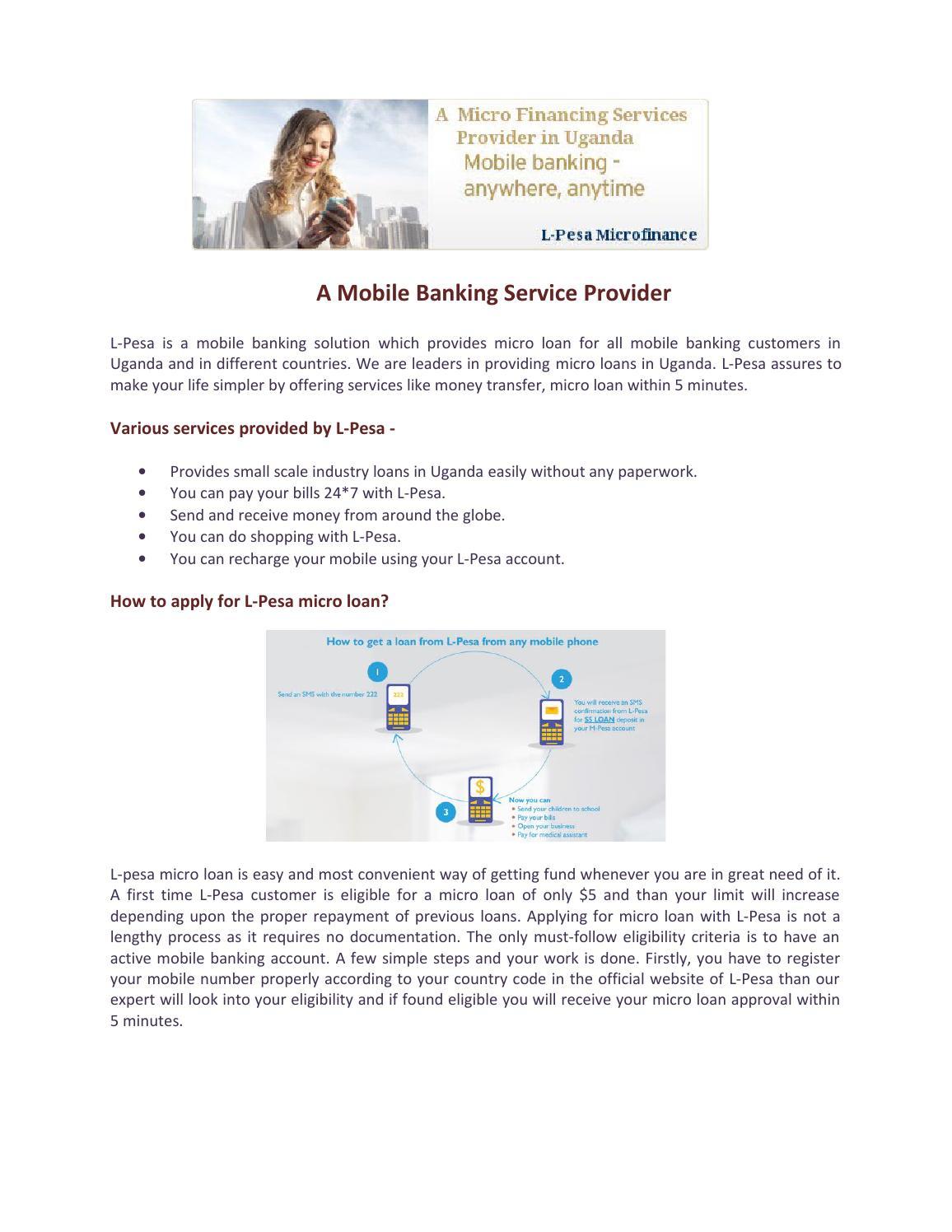 L-Pesa Microfinance - An Online Micro loan service provider