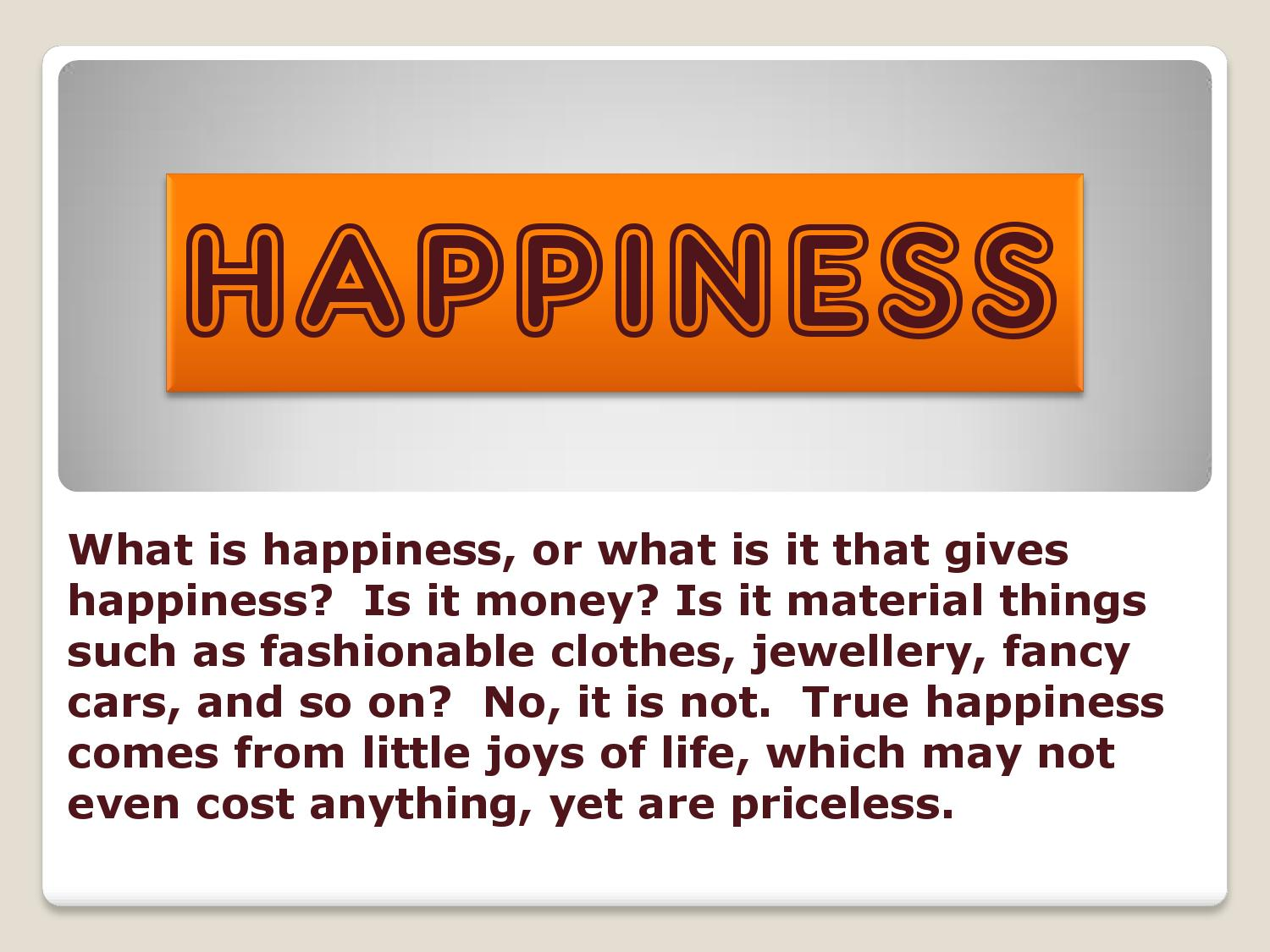 money or happiness essay