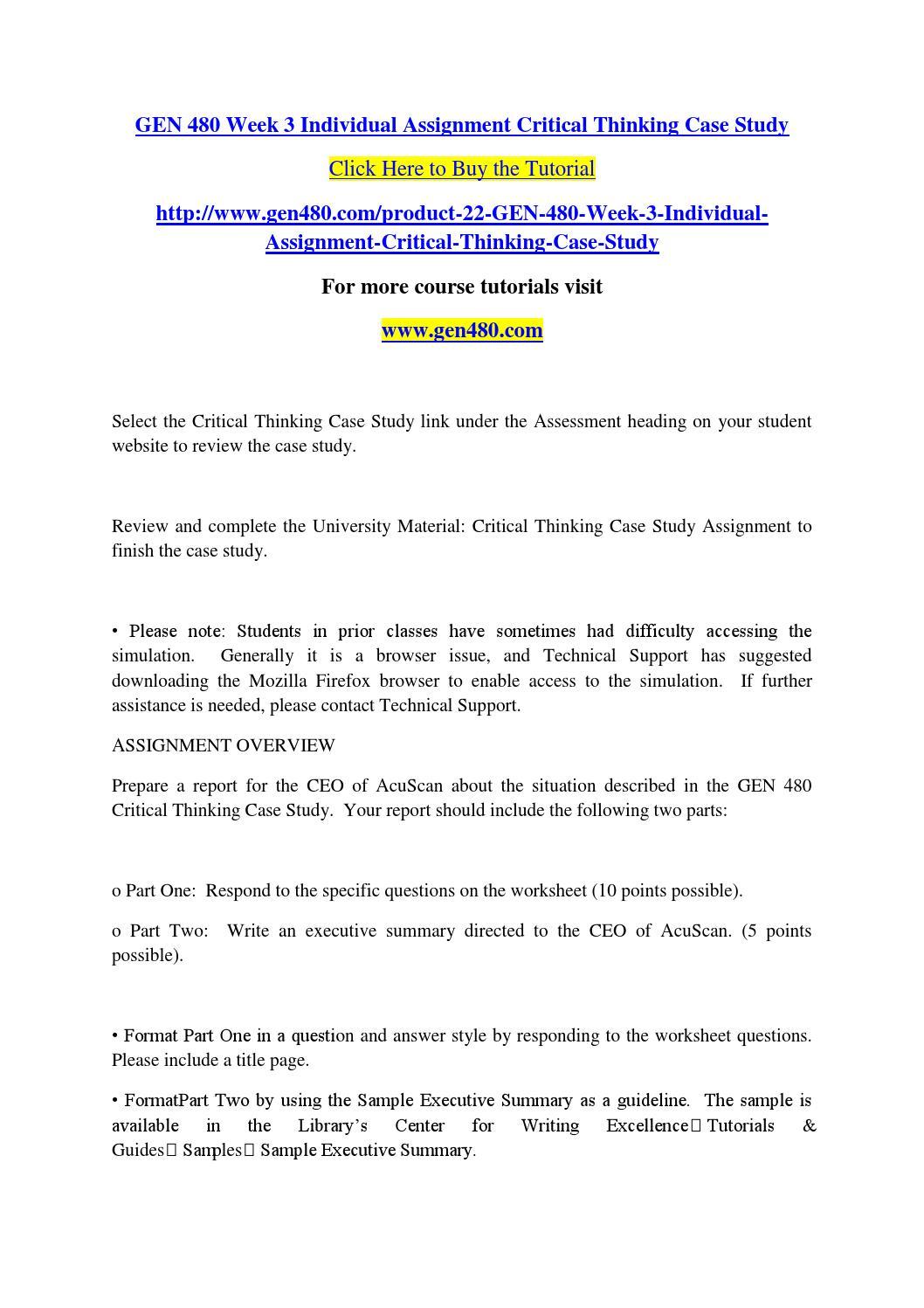 acuscan case study executive summary