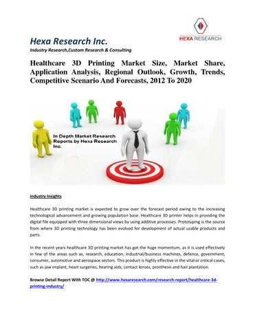 Healthcare 3d printing market size, market share, application analysis,  regional outlook, growth, tr