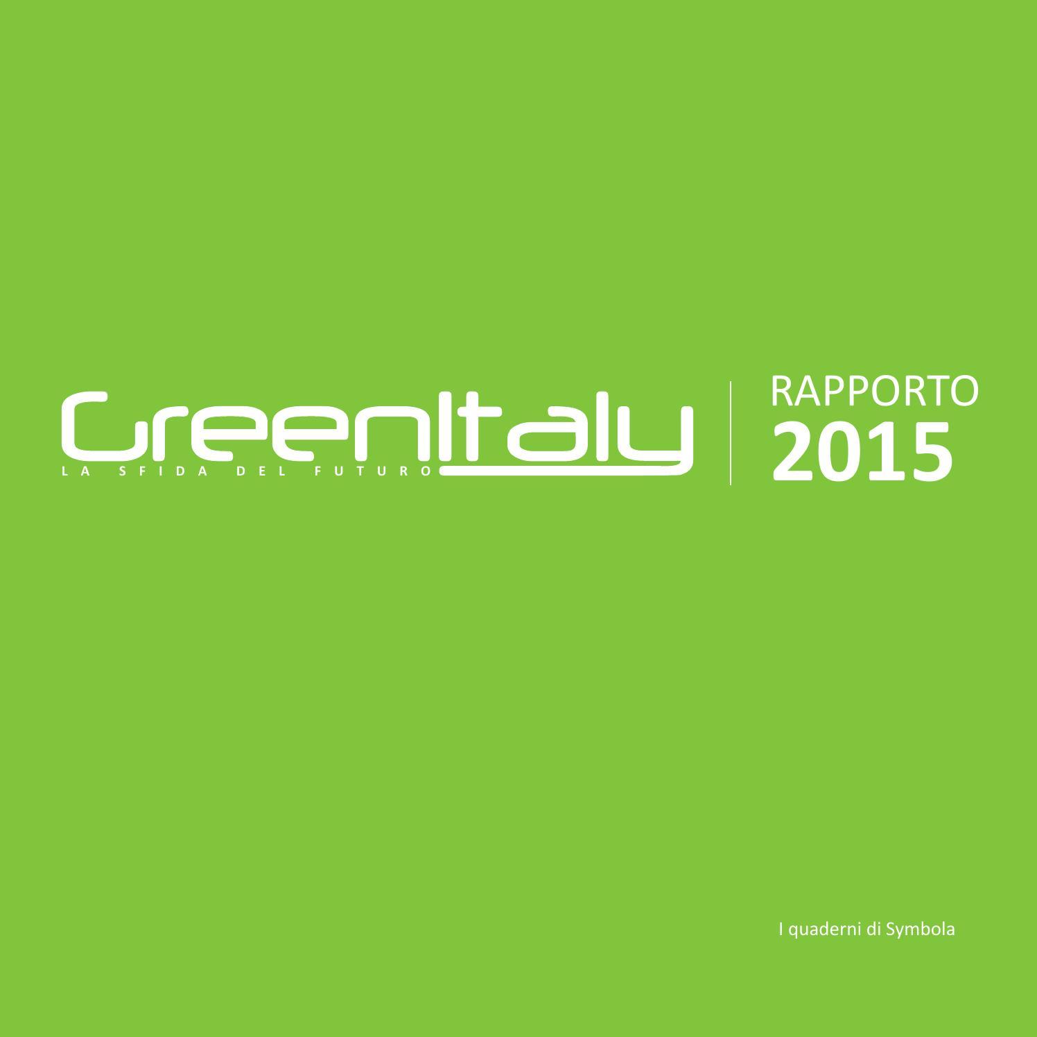 Risultati immagini per green italy rapporto 2015