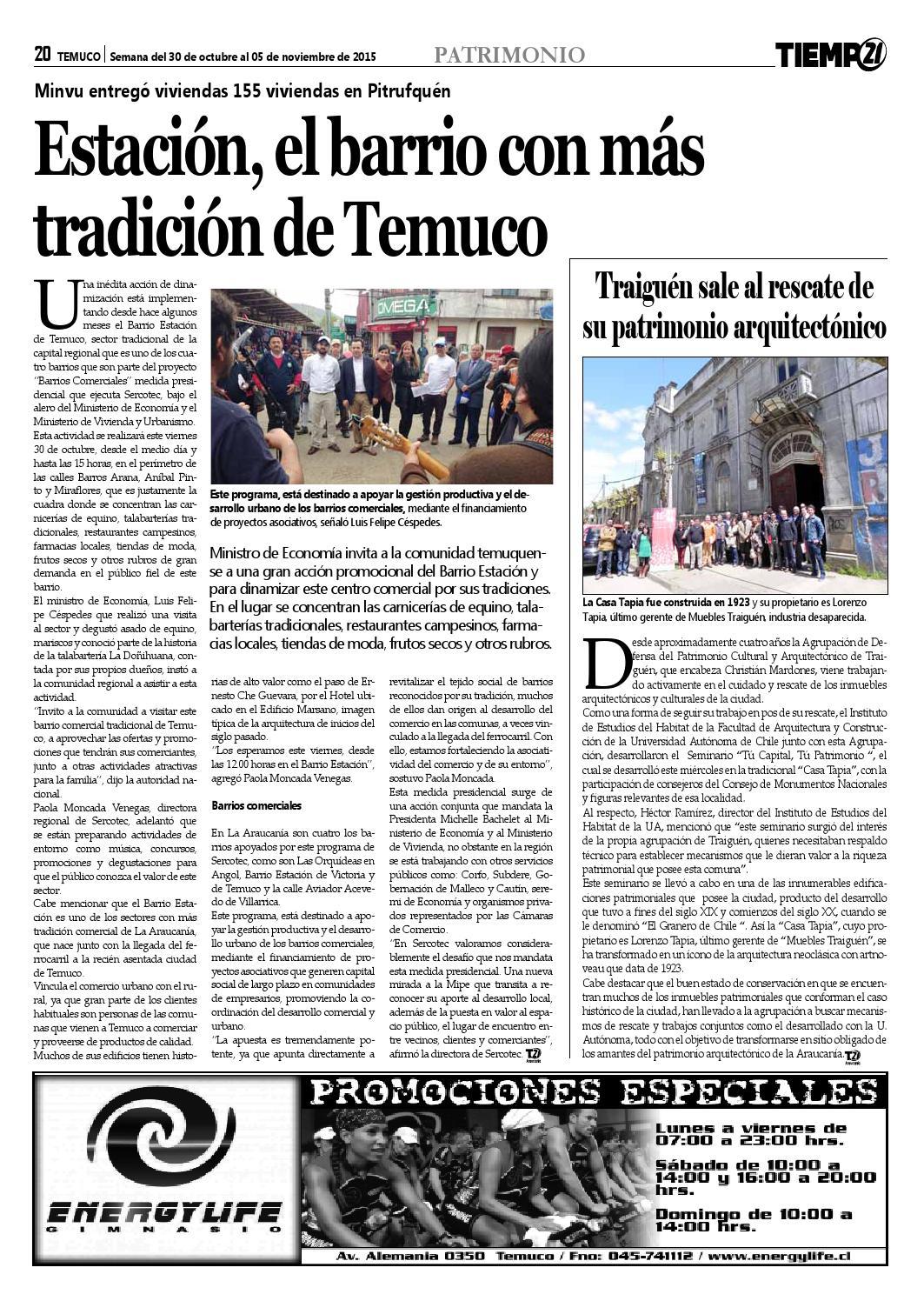 Edici N 359 Consejero Jos Zamora No Soy De Poner M S Piedras  # Muebles Jouannet Temuco
