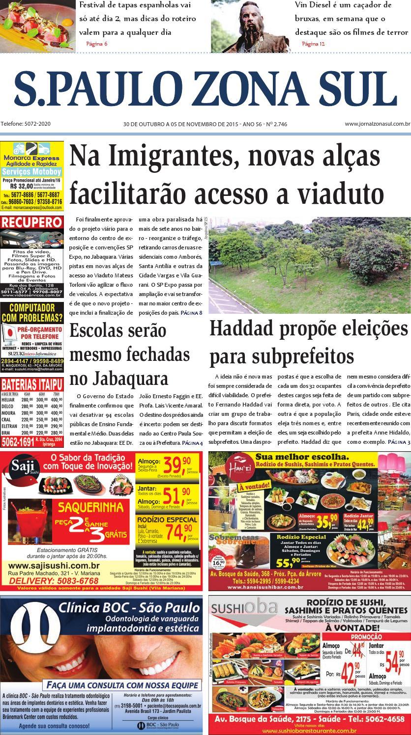 b22b086be9b 30 de outubro a 05 de novembro de 2015 - Jornal São Paulo Zona Sul by  Jornal Zona Sul - issuu