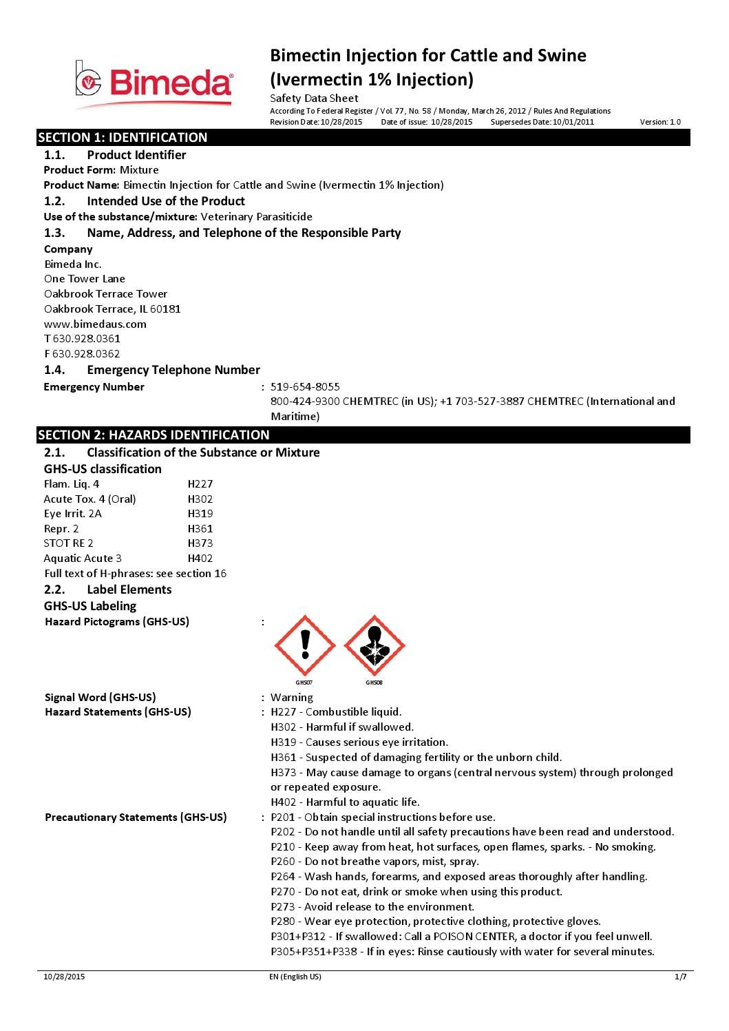 1bim017 safety sheet by cross vetpharm group ltd issuu for 1 tower lane oakbrook terrace il 60181