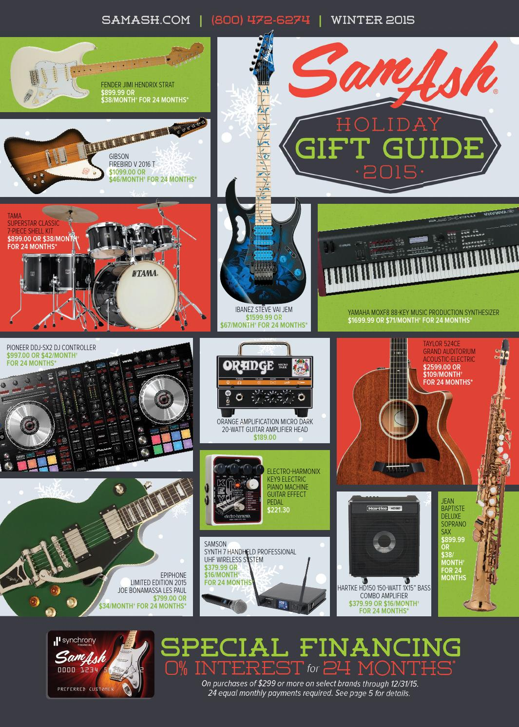 Holiday 2015 Sam Ash Gear Guide By Music Corp Issuu Displaying 16gt Images For Current Electricity Kids